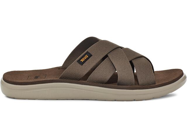 Teva Voya Slide Sandals Men chocolate chip